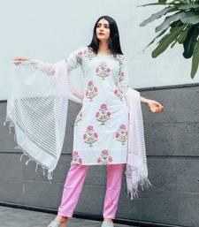 Pink Hand Block printed suit set