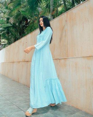 Pastel Blue Cotton Dress
