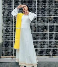Silver White Cotton Dress