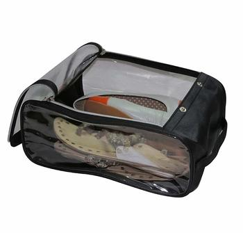 atorakushon Indian Shoe Cover Travelling Shoe Storage Bag/Storage Footwear Organiser Pouch Shoe Bag Black Pack of 1