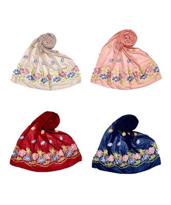Multicolor  Premium Cotton Designer Ari Hijab