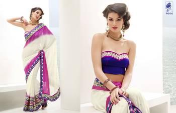 Elegant Designer Sari Kesar1