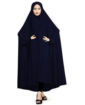Justkartit Lycra Stretchable Plain Arabic Style Chaderi Abaya Burkha For Women