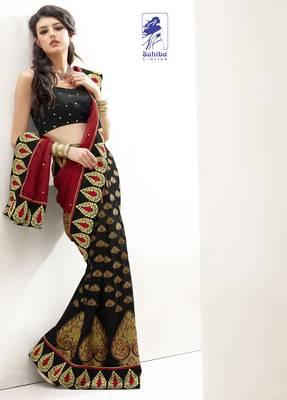 Elegant Designer Sari Kesar3