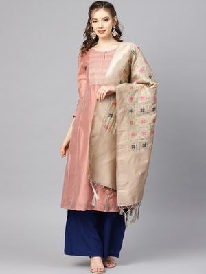 Women's Grey Woven Banarasi Silk dupattas