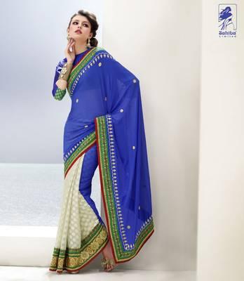 Elegant Designer Sari Kesar6