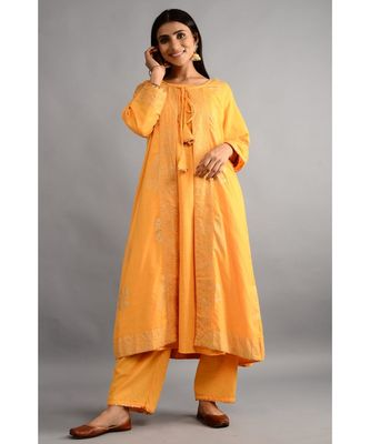 HaathPhool Kurta, Jecket And Pant Set