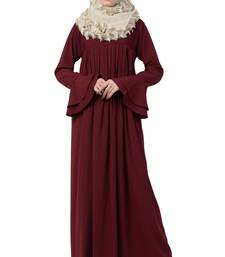 A-Line Abaya With Pleated Design
