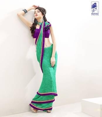 Elegant Designer Sari Kesar15