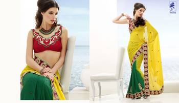 Elegant Designer Sari Kesar18