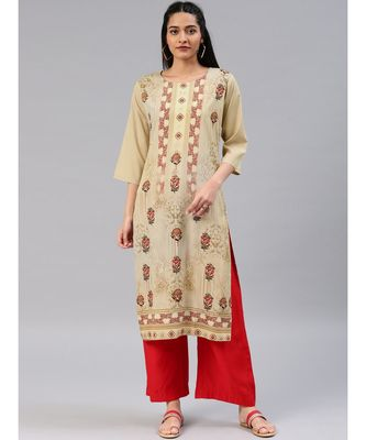 multicolor printed polyester stitched kurti