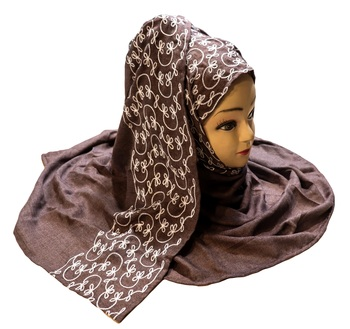 Rayon Soft Cotton Occasion Wear Embroidery Scarf Hijab Dupatta For Women