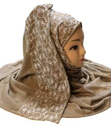 Rayon Soft Cotton Embroidery Hijab Scarf Dupatta For Women