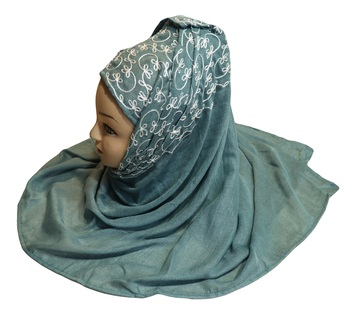 Rayon Soft Cotton Occasion Wear Embroidery Hijab Scarf Dupatta For Women