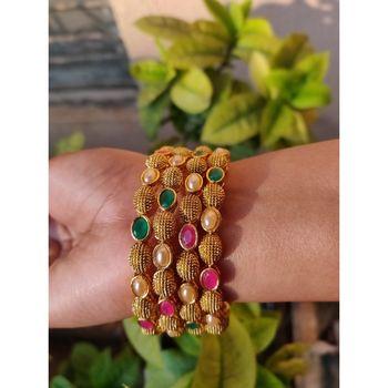 Multicolor stone bangles