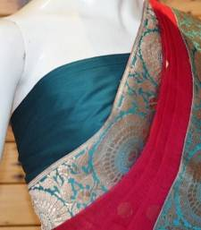 Buy ROYAL PINK with EMRALD GREEN silk-saree online