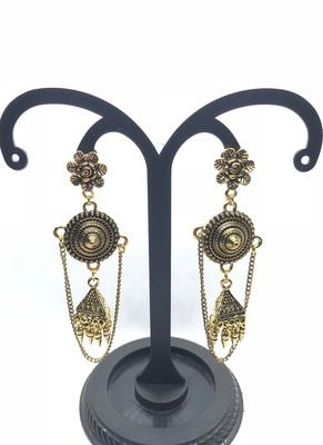 Gold crystal earrings