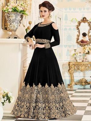 Black Wedding Wear Designer Anarkali Suit