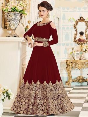 Red Wedding Wear Designer Anarkali Suit