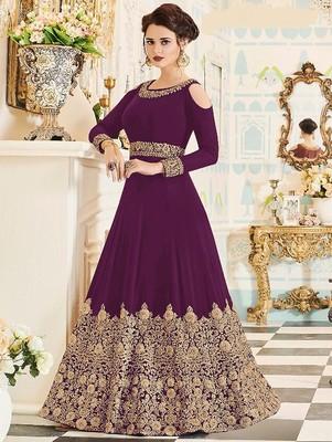 Purple Wedding Wear Designer Anarkali Suit