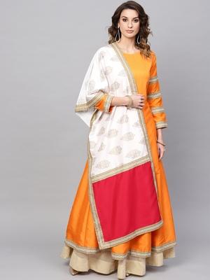 Red plain polyester salwar