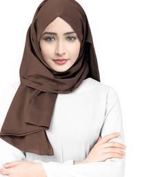 Justkartit Occasion Wear Viscose Rayon Soft Cotton Plain Scarf Hijab For Women