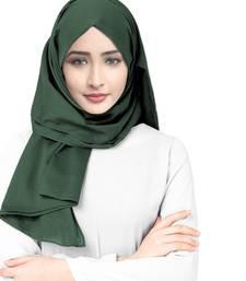 Justkartit Party Wear Viscose Rayon Soft Cotton Plain Scarf Hijab For Women