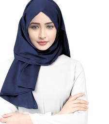 Justkartit Denim Color Viscose Rayon Soft Cotton Plain Scarf Hijab For Women