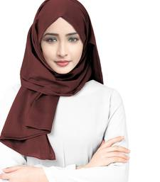 Justkartit Casual Wear Rayon Soft Cotton Plain Scarf Hijab For Women