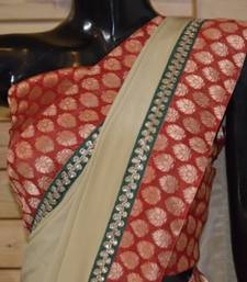 Buy ROYAL BEIGE crepe-saree online