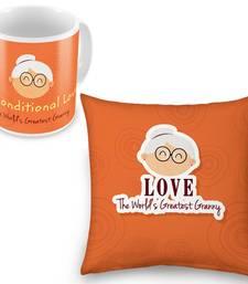 Buy Buy Worlds Greatest Granny Cute Cushion n Get Mug Free other-home-furnishing online