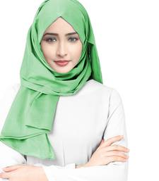 Justkartit Viscose Rayon Soft Cotton Occasion Wear Plain Scarf Hijab For Women