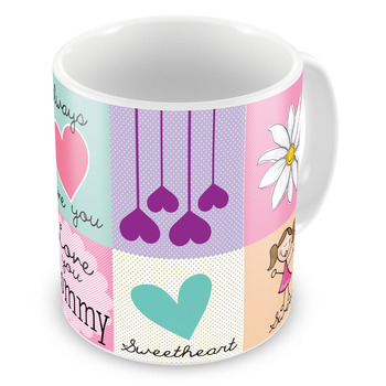 Love You Mother Print Quotation Design Coffee Mug