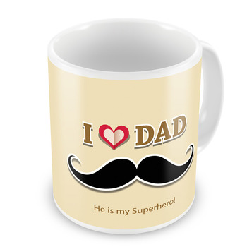 I Love Dad Printed Quotation Delightful Coffee Mug