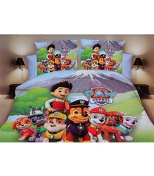 team paw patrol solid polyester Double bed sheets