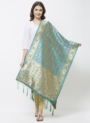 Rama Banarasi Silk Dupatta for woman