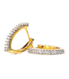 Buy Designer V shaped Huggie Earring hoop online