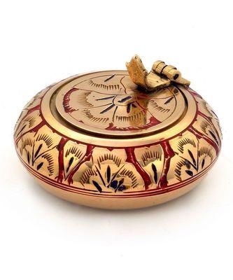 Pure Brass Meenakari Work Ash Tray Handicraft -203
