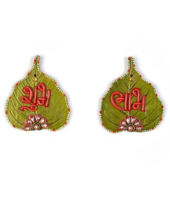 Designer Paan Shape Shubh Labh Door Hanging 253
