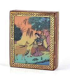 Meera Gemstone Painting Wooden Jewelry Box 257