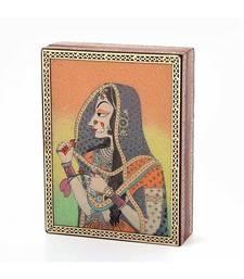 Gemstone Powder Bani Thani Painting Wooden Box 259