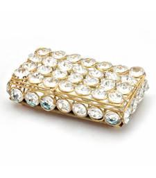 Traditional Unique Designer Brass Crystal Box 280