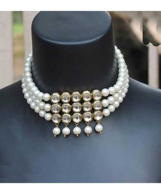 Kundan and Pearl Choker