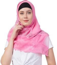 Stole For Women - Designer Diamond Studed Cotton Lace Hijab