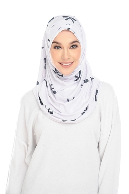 Justkartit Instant Stitched Cap Style Printed Scarf Hijab For Women