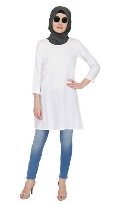 Basics White Tunic By Ruqsar