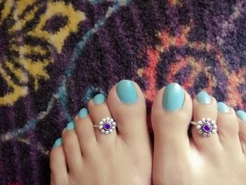 Blue Stone Toe Ring