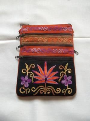 orange suede leather bag