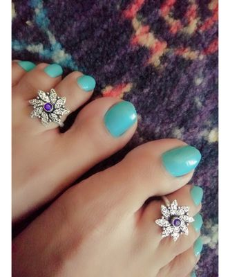 Blue Stone Toe Ring