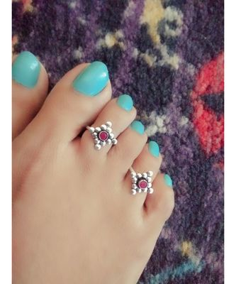 Pink Stone Toe  Ring